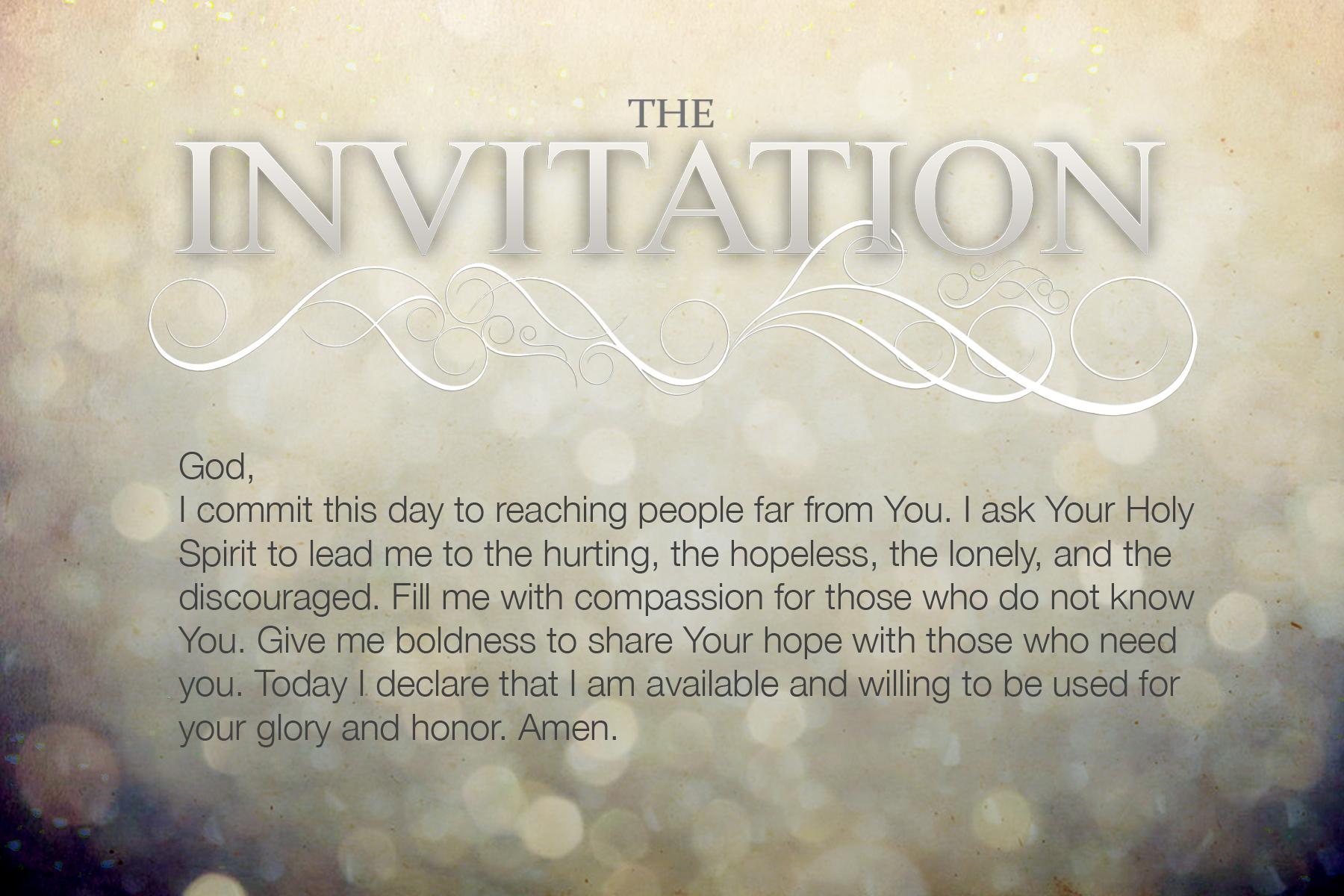 The Invitation | BRAD FARNSWORTH
